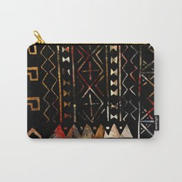 Golden Mud Cloth Carry-All Pouch