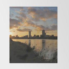 Boston at Sunrise - Massachusetts, New England Throw Blanket