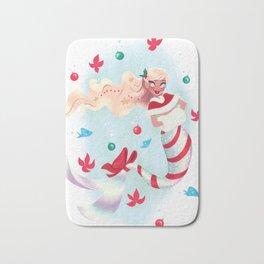 Holiday Mermaid Bath Mat