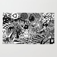 chaos Area & Throw Rugs featuring Chaos by Cs025