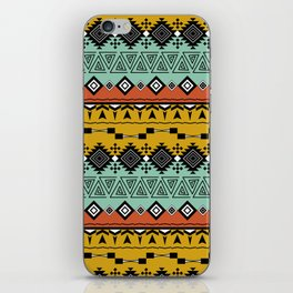 Colorful Aztec pattern. iPhone Skin