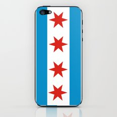chicago flag iPhone & iPod Skin