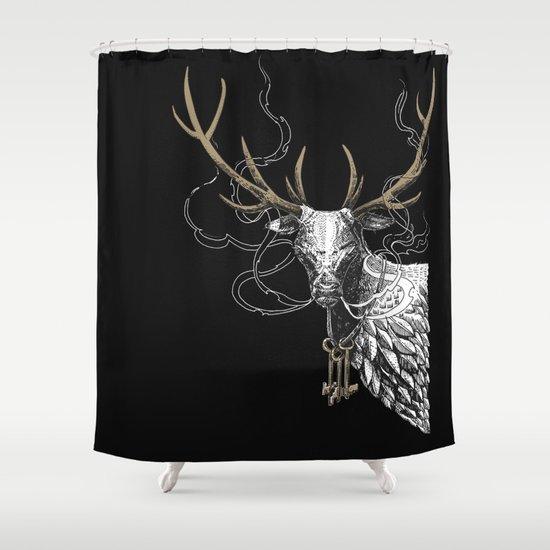 Oh Deer! Light version Shower Curtain