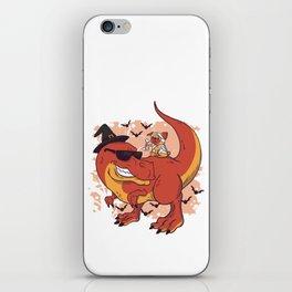 Pug & Dinosaur - Halloween design iPhone Skin