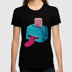 Pop Tart SMALL Womens Fitted Tee Black
