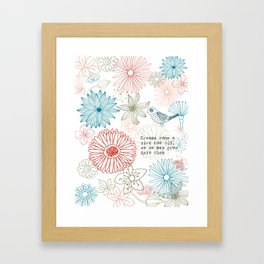 Floral dreams Framed Art Print