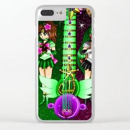 Fusion Sailor Moon Guitar #35 - Sailor Jupiter & Sailor Pluto Clear iPhone Case