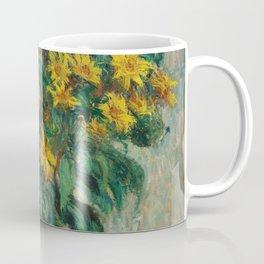 Jerusalem Artichoke Flowers by Claude Monet Coffee Mug