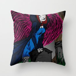 Death is looking for you Throw Pillow