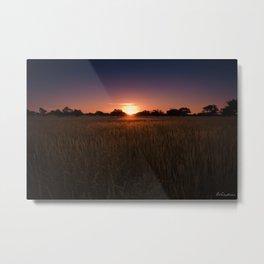 African Kalahari Sunset - Landscape Photography #Society6 Metal Print
