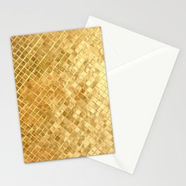 Golden mettalic pattern Stationery Cards