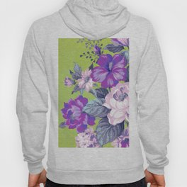 Saturated Vintage Floral Hoody