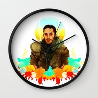 mad max Wall Clocks featuring Mad Max by chazstity