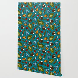 Camping is Cool Pattern Wallpaper
