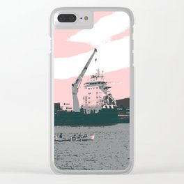 harbor rowing Clear iPhone Case