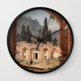 Jules Laurens - Ruins of Ashraf Palace Wall Clock