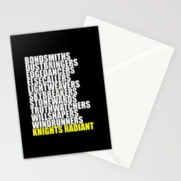 knights radiant Stationery Cards