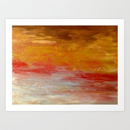Gentle rays Art Print