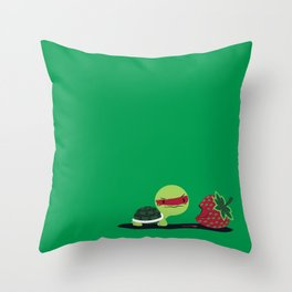 Strawberry Turtle Throw Pillow