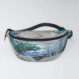 Abstract Geometric Abalone and Mother of pearl Fanny Pack
