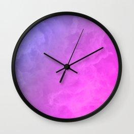 Smoke - pink and purple Wall Clock