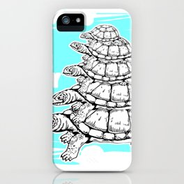 Turtles All The Way Down iPhone Case