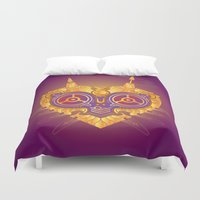 majora Duvet Covers featuring Steampunk Majora by Evan Ayres