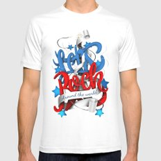 Let's Rock Around The World Mens Fitted Tee MEDIUM White