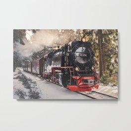 Train in Winterwonderland - Fine Art Travel Photography Print Germany   Steam Locomotive Art Print Metal Print