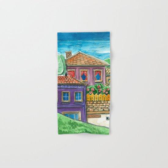 Doodle houses  Hand & Bath Towel