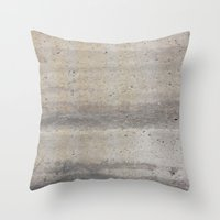 concrete Throw Pillows featuring Concrete by Patterns and Textures