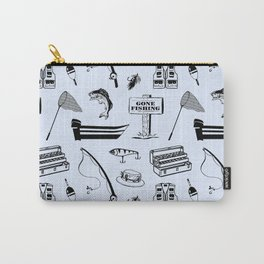 Gone Fishing // Light Blue Carry-All Pouch