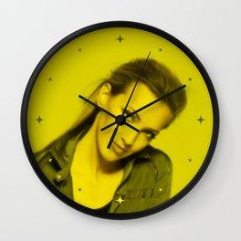 Katie Cassidy - Celebrity (Florescent Color Technique) Wall Clock