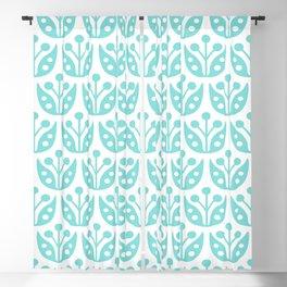 Mid Century Modern Flower Pattern 731 Turquoise Blackout Curtain