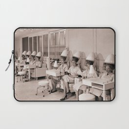 Vintage Hair Salon Laptop Sleeve