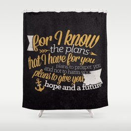 The Plans Shower Curtain