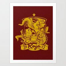 La Roja Art Print
