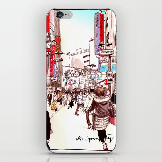 Street In Shibuya iPhone & iPod Skin