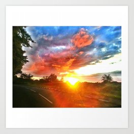 SUNSET (1) Art Print
