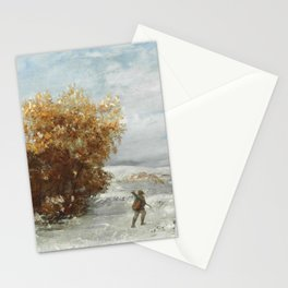 """Gustave Courbet """"Chasseurs dans le neige (Hunters in the snow)"""" Stationery Cards"""