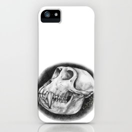 Baboon Skull Drawing iPhone Case