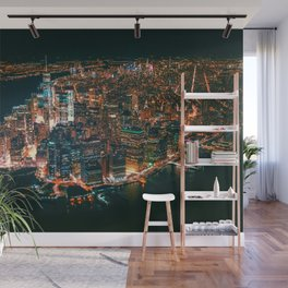 City of Lights New York City (Color) Wall Mural