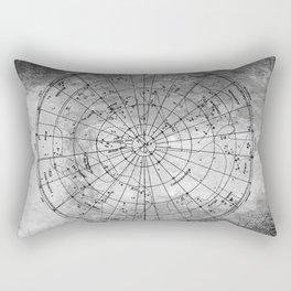 Old Metal Northern Constellation Map Rectangular Pillow