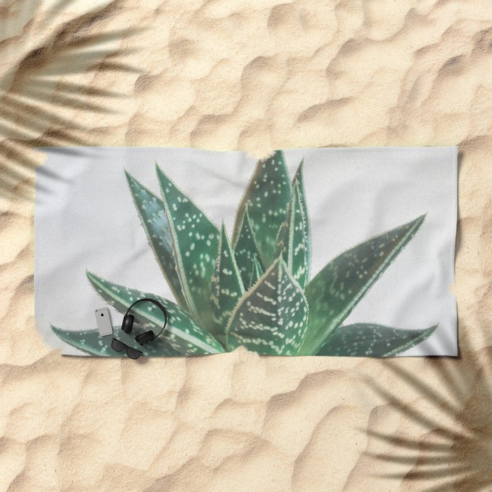 Aloe Tiki Beach Towel