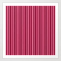 striped Art Prints featuring Striped by AbstractCreature