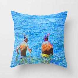 Let's Snorkel  Throw Pillow