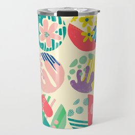 Abstract circle fun pattern Travel Mug