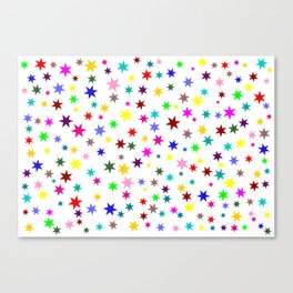 Colorful stars Canvas Print