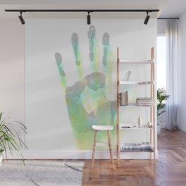 Blurred handprint Wall Mural