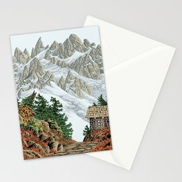 BEYOND MOUNT SHUKSAN AUTUMN COLOR VERSION Stationery Cards